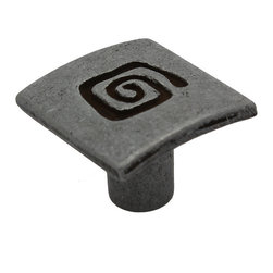 GlideRite - GlideRite 1-inch Antique Silver Square Spiral Cabinet Knobs (Case of 25) - Solid die-cast zinc alloy antique silver square spiral cabinet knobsDimensions: 1 inch in diameter x 0.375-inch base x 0.75-inch projectionSold as a pack of 25