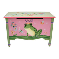 Fantasy Fields - Fantasy Fields Magic Garden Personalized Toy Chest Multicolor - W-7479AP - Shop for Childrens Toy Boxes and Storage from Hayneedle.com! Whether they call it the Fantasy Fields Magic Garden Personalized Toy Chest or they just put their toys away in the frog box they'll enjoy having this hand-painted toy chest as part of their space. The body of this charming piece is made from durable MDF with a painted finish that even gives you the option to personalize it with your child's name. They can plop on the wide bench to put on their shoes or they can lift the flip-top lid to get access to the roomy space inside. Safety hinges slow the lid while it closes to prevent the pinching of little fingers.About Teamson DesignBased in Edgewood N.Y. Teamson Design Corporation is a wholesale gift and furniture company that specializes in handmade and hand-painted kid-themed furniture collections and occasional home accents. In business since 1997 Teamson continues to inspire homes with creative and colorful furniture.