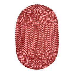 Hook & Loom Rug Company - Savoy Braid Rug, Red, 6' Round - Eco-Friendly braided rug. 100% recovered fiber. No dyes used. Colors come from the recovered textile fiber. Made in India