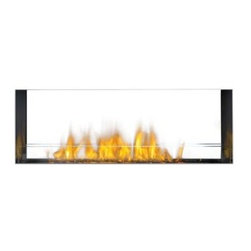 Napoleon See Through Linear Outdoor Gas Fireplace Insert - Modern style and comfortable warmth are yours to enjoy with the Napoleon See Through Linear Outdoor Gas Fireplace Insert. This unit can be enjoyed from both sides and offers a contemporary design with glass see through construction. An optional stainless steel trim makes it ultra modern. This fireplace burns with 55,000 BTUs and can be used with either natural gas or liquid propane. Its contemporary look offers a warm glow with Topaz CRYSTALINE embers. A glass wind deflector adds style while keeping the flames protected. Other features include an electric start and a safety valve that turns off the gas if the flame goes out. Easy to install and even easier to enjoy, this unit will complete your outdoor entertainment area. Note: Review any building restrictions or construction permit requirements before installation of an outdoor fireplace. Contact your local zoning commission/homeowners association for details. Contact a licensed contractor for installation as this product may require connection to a natural gas line.About NapoleonNapoleon got its start in 1976 as a steel fabrication business launched by Wolfgang Schroeter in Barrie, Ontario, Canada. His original stove was a solid cast iron two-door design that was produced in a 100 sq. ft. manufacturing facility. By 1981 the name Napoleon was born along with the first single glass door with Pyroceram high temperature ceramic glass in the industry. This glass door was the first of many milestones for the company and the demand for Napoleon's wood stoves grew over the next few years beyond Ontario's borders to the rest of Canada and into the United States. Over the years Napoleon has led the way with innovative engineering and design. They are now North America's largest privately owned manufacturer of quality wood and gas fireplaces, gourmet gas and charcoal grills, outdoor living products, and heating and cooling products. Napolean is committed to producing high quality products with honest, reliable service. This approach has proven to be a successful framework to ensuring the continued rapid growth of the company.