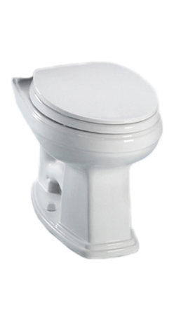 Toto - Toto C424EFG#01 White Eco Promenade Toilet, Elongated Bowl 1.28 GPF, SanaGloss - With square, sleek lines and a classic, pedestal-like design, the Promenade series to give an old-world style and traditional feel to any home decor.