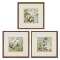 Paragon - White Trellis PK/3 - Framed Art - Each product is custom made upon order so there might be small variations from the picture displayed. No two pieces are exactly alike.