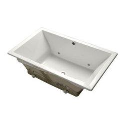 KOHLER - KOHLER K-1174-G-0 Underscore 6' Acrylic BubbleMassage Bath - KOHLER K-1174-G-0 Underscore 6' Acrylic BubbleMassage Bath in White