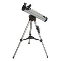 Celestron 76 LCM Computerized Telescope - Celestron 76LCM Computerized Telescope - General Features High quality 76mm Newtonian reflector Lightweight Computerized Mount Built-on StarPointer finderscope to help with alignment and accurately locating objects Quick-release computerized base optical tube and accessory tray for quick no tool set up Sturdy aluminum tripod and accessory tray included Includes CD-ROM The SkyX Astronomy Software which provides education about the sky and printable sky maps 76LCM Computerized Telescope - Computerized Mount Features Proven NexStar computer control technology Database allows telescope to locate over 4 000 celestial objects SkyAlign allows you to align on any three bright celestial objects making for a fast and easy alignment process Flash upgradeable hand control software and motor control units for downloading product updates over the Internet Internal battery compartment to prevent cord wrap during use Compatible with optional NexRemote telescope control software for advanced control of your telescope via computer