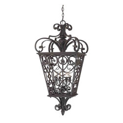 Quoizel Lighting - Quoizel FQ1920MK01 French Quarter Marcado Black Outdoor Lantern - 4, 60W B10 Candelabra
