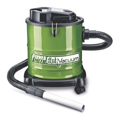 RICHPOWER - POWERSMITH PAVC101 ASH VACUUM - Cleans warm and cool ash out of fireplaces, wood and pellet stoves, and BBQ grills. Heat-Resistant filter system captures the finest dust and ash. Includes metal hose, metal nozzle, casters, 2 extension wands, brush nozzle, turbo nozzle and filter. Quiet   75 db motor.          Cap Gal=3  This item cannot be shipped to APO/FPO addresses.
