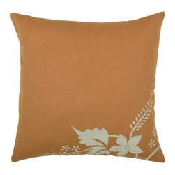 Rizzy Home - Rizzy Home Printed Floral Decorative Linen Throw Pillow Multicolor - PILT02807OR - Shop for Pillowcases and Shams from Hayneedle.com! Zesty orange linen with a tropical flower design in the corner this Rizzy Home Printed Floral Decorative Linen Throw Pillow presents a fun yet sophisticated front. Perfect for adding sass to your sofa this throw pillow is also quality with its removable polyester insert and hidden zipper closure.About Rizzy HomeRizwan Ansari and his brother Shamsu come from a family of rug artisans in India. Their design color and production skills have been passed from generation to generation. Known for meticulously crafted handmade wool rugs and quality textiles the Ansari family has built a flourishing home-fashion business from state-of-the-art facilities in India. In 2007 they established a rug-and-textiles distribution center in Calhoun Georgia. With more than 100 000 square feet of warehouse space the U.S. facility allows the company to further build on its reputation for excellence artistry and innovation. Their products include a wide selection of handmade and machine-made rugs as well as designer bed linens duvet sets quilts decorative pillows table linens and more. The family business prides itself on outstanding customer service a variety of price points and an array of designs and weaving techniques.