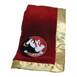 Collegiate Delight - Florida State University Blanket - Let your school spirit show with these officially licensed collegiate baby blankets. These embroidered coral fleece blankets with matching satin trim are super soft to the touch and perfect for your future graduates and athletes.