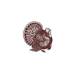 """Turkey Rubber Stamp - Use this stamp for any paper used on Thanksgiving, such as place settings or """"I am thankful for..."""" sheets for passing around the table."""