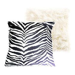 Extreme Luxury Collection:  Zebra Print/Crisp White Faux Fur -