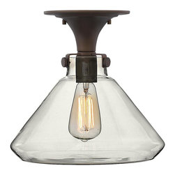 Hinkley Lighting - 3147OZ Congress Semi Flush Mount, Oil Rubbed Bronze, Hand Blown Clear Glass - Traditional Semi Flush Mount in Oil Rubbed Bronze with Hand Blown Clear glass from the Congress Collection by Hinkley Lighting.
