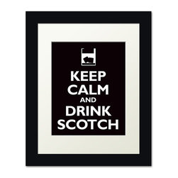 Keep Calm Collection - Keep Calm and Drink Scotch, framed print (black) - This item is an Art Print which means it is a higher-quality art reproduction than a typical poster. Art prints are usually printed on thicker paper, resulting in a high quality finish. This print is produced on a 270 gsm fine art paper stock.