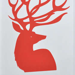 "Red Deer Print - Just in time for the holidays, this ""Red Deer"" print is making me daydream."
