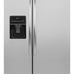 Amana - ASD2575BRS 25.5 cu. ft. Side-by-Side Refrigerator With Temp Assure Freshness Con - You39ll have plenty of room for both chilling and freezing in this Amana 255 cu ft ENERGY STAR qualified side-by-side refrigerator The freezer door has an ice and water dispenser with a PUR water filtration system This unit has three Spillsaver glass...