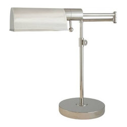 "Visual Comfort - Visual Comfort TOB3200PN Thomas O'Brien Pask Pivoting 1 Light Table Lamp in Poli - Vintage modern lighting from the influential New York designer and home furnishings merchant Thomas O'Brien. Retro and industrial styles meet up with chi glamour and sophisticated finishes, ideal for town or country.Base: 8"" Round Collection: Thomas O'Brien Extension: 16"" - 26"" Finish: Polished Nickel Height: 15"" - 23"" Number of Lights: 1 Socket: Dimmer Socket 1 Base: T Socket 1 Max Wattage: 60 Wattage: 60 T"
