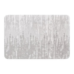 """KESS InHouse - Frederic Levy-Hadida """"Drops"""" Gray Memory Foam Bath Mat (24"""" x 36"""") - These super absorbent bath mats will add comfort and style to your bathroom. These memory foam mats will feel like you are in a spa every time you step out of the shower. Available in two sizes, 17"""" x 24"""" and 24"""" x 36"""", with a .5"""" thickness and non skid backing, these will fit every style of bathroom. Add comfort like never before in front of your vanity, sink, bathtub, shower or even laundry room. Machine wash cold, gentle cycle, tumble dry low or lay flat to dry. Printed on single side."""