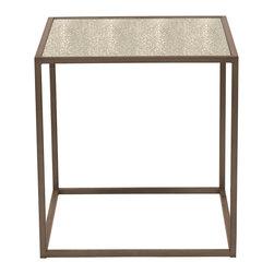 Vanguard Furniture - Vanguard Furniture Vista Lamp Table 338L-AZ-par, Aged Bronze - Vanguard Furniture Vista Lamp Table 338L-AZ