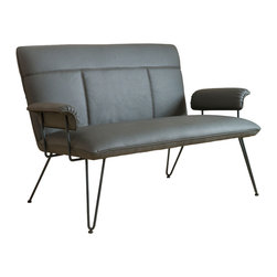 Great Deal Furniture - Charlotte Modern Design Loveseat, Grey - Accentuate your living room with this modern loveseat. The Charlotte loveseat is a sleek addition to any interior space with its clean angles and lines.