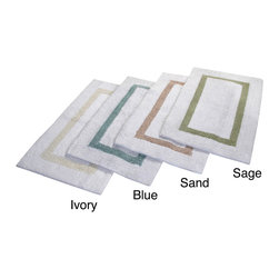 None - Hotel Collection Cotton Reversible Luxury Bath Rug - Dress your bathroom floor with the luxurious Hotel Collection 100-percent cotton reversible bath rug. Available in four colors and three dimensions, this bath rug is machine washable for easy care and repeated use.