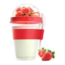 Adnart - Yo2Go, Red - Take your favorite yogurt to go!