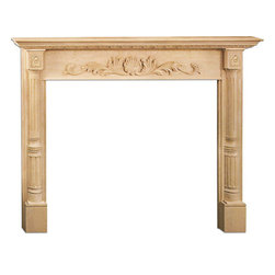 "Inviting Home - Providence Medium Fireplace Mantel - Providence medium fireplace mantel overall - 64""W x 51-1/8""H opening - 50""W x 40""H shelf - 69-5/8""W x 8""D Wood fireplace mantels are hand-carved from premium selected hard maple. Fireplace mantels come unfinished finely sanded ready to accept any stain to match you surrounding woodwork. Classic gracious design of the wood fireplace mantels speaks gently of understated elegance and undeniable refinement."