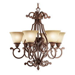 "Kichler - Kichler 2216TZG Larissa Single-Tier Chandelier w/6 Lights - 72"" Chain - 29"" W - Kichler 2216 Larissa Chandelier"