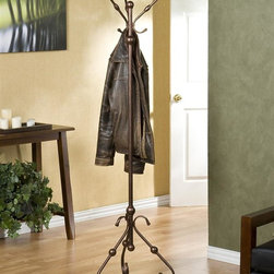 Southern Enterprises - Holly & Martin Blythe Hall Tree - Made from durable metal. Antique bronze finish. Assembly required. 20.5 in. W x 17.5 in. D x 71 in. H (8 lbs.). Assembly InstructionExquisite antique styling wrapped in a burnished bronze finish creates this three sided hall tree. Perfect anywhere from entryway to bedroom, the function of such a wonderful piece is a welcome addition to any room.