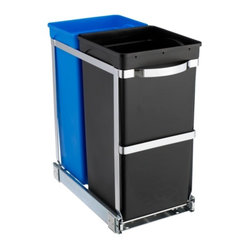 Pull-Out Recycler Bin - We love aftermarket products that can transform an older cabinet into a modern effective one. This recycler will mount to the base of a cabinet and pull out on steel ball bearings to transform an ineffective cabinet into a recycling station.