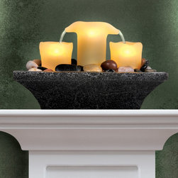 None Order Home Collection Fameless Led Candle Fountain