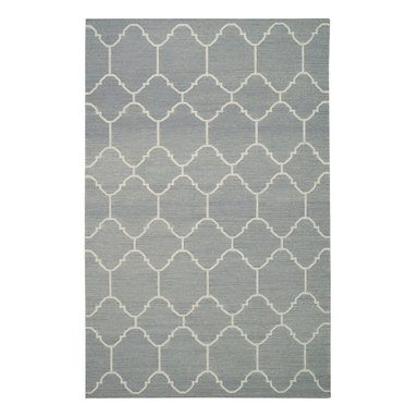 """Arabesque rug in Oslo Gray - """"A classic tile pattern from the middle east and northern Africa, it's one of my go to mosaics in flooring. By switching mediums and using it on a rug gives it new life."""" -Genevieve Gorder"""