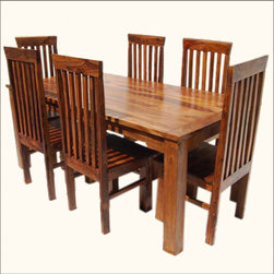 Lincoln Study 7pc Dining Table & Chair Set -
