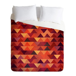 DENY Designs - Iveta Abolina Trianglerain Duvet Cover - Turn your basic, boring down comforter into the super stylish focal point of your bedroom. Our Luxe Duvet is made from a heavy-weight luxurious woven polyester with a 50% cotton/50% polyester cream bottom. It also includes a hidden zipper with interior corner ties to secure your comforter. it's comfy, fade-resistant, and custom printed for each and every customer.