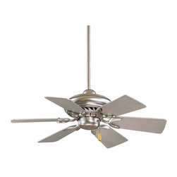 Minka Aire - Mink Aire Supra 32 Ceiling Fan in Brushed Steel - Minka Aire Supra 32 Model F562-BS in Brushed Steel with Silver Finished Blades.