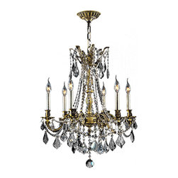 Worldwide Lighting - Windsor 6 Light Antique Bronze Finish with Crystal Cast Brass Chandelier - This stunning 6-light chandelier only uses the best quality material and workmanship ensuring a beautiful heirloom quality piece. Featuring a solid cast brass base in antique bronze finish and all over clear crystal embellishments made of finely cut premium grade 30% full lead crystal, this chandelier will give any room sparkle and glamour. Worldwide Lighting Corporation is a premier designer manufacturer and direct importer of fine quality chandeliers, surface mounts, and sconces for your home at a reasonable price. You will find unmatched quality and artistry in every luminaire we manufacture.