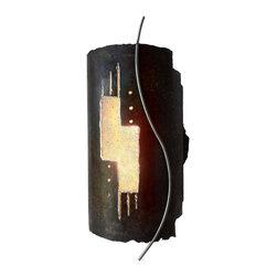 SC_1612BT_C_RUMB wall light sconce, sculpture, rustic, southwest - SHALLOW TRACKS [ SC_1612BT_C_RUMB [  8w / 16h / 7 e ]