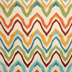 Jaipur Rugs - Solid Pattern Multi Color Indoor/ Outdoor Rug - CI18, 7.6x9.6 - Navigate towards a fresh new approach to indoor-outdoor rugs with Jaipur's cheerful Coastal Living Indoor-Outdoor Collection. This bold range takes its styling cues from the ruggedly chic aesthetic of a casual seaside lifestyle. Polypropylene construction allows the durability needed for outdoor use and a relaxed sense of style equally at home, indoors or out.