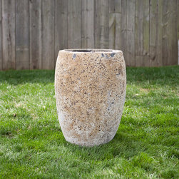 Barnacle Egg Pot - Here's an egg-shaped pot for growing pretty flowers on the patio.