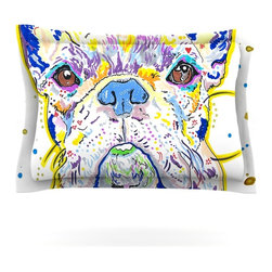 """Kess InHouse - Rebecca Fischer """"Niko"""" French Bulldog Pillow Sham (Cotton, 40"""" x 20"""") - Pairing your already chic duvet cover with playful pillow shams is the perfect way to tie your bedroom together. There are endless possibilities to feed your artistic palette with these imaginative pillow shams. It will looks so elegant you won't want ruin the masterpiece you have created when you go to bed. Not only are these pillow shams nice to look at they are also made from a high quality cotton blend. They are so soft that they will elevate your sleep up to level that is beyond Cloud 9. We always print our goods with the highest quality printing process in order to maintain the integrity of the art that you are adeptly displaying. This means that you won't have to worry about your art fading or your sham loosing it's freshness."""