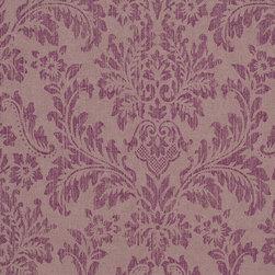 Romosa Wallcoverings - Purple Faux Worn Damask Shabby Chic Georgia Wallpaper - - Color: Purple