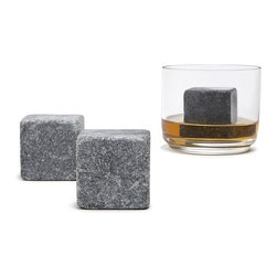 Teroforma - Whisky Stones MAX, Set of 2 - Who says you don't have the stones to drink whisky? Now you can actually have two, soapstones that is. Simply freeze and place in beverage of choice to enjoy it cold without watering it down.