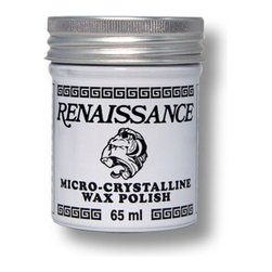 Renaissance Wax Polish Micro-crystalline 65ml - Renaissance Micro-crystalline Wax Polish. Used In The Finest Museums. Protects Metals And Almost Any Other Surface. 65ml Jar (2 1/4 Ounces). Highly recommended by the Vintaj company, Renaissance Wax Polish will protect the surface of metals and wood from dust, fingerprints, liquids, and other environmental hazards. Renaissance wax polish was originally formulated in the British Museum research laboratories in the early 1950's, in response to a discussion amongst museum technicians at an international conference on fine-art conservation. When applied, it creates a micro-thin, lustrous layer that enhances shine while preventing damage. Renaissance Wax Polish can also be used to remove old polish build up. Can be used on the following surfaces: Wood, Leather, Paper, Bone, Pearl and Mother of Pearl, Gemstones, any kind of Metal, Photographic prints, Enamel, Fiberglass, Granite, and on and on. Apply a very thin layer with any soft cloth (a T-shirt will work fine!) Buff gently, and the surface is sealed and protected beneath a hard coat of wax. A great way to finish off your jewelry pieces, especially if they are handled a lot at shows and exhibits. It will help prevent tarnish and corrosion. Use in ventilated area. Absolutely colorless, and once dry, it imparts a matte finish that can be polished. 1 can, 65ml (2 1/4 Ounces)