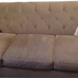 Macy's Tufted Grey Couch - Retail Price: $900