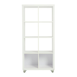 Eurostyle - Euro Style Sabra Collection Sabra 4X2 Storage Unit in White - Sabra 4X2 Storage Unit in White in the Sabra Collection by Eurostyle