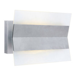 Eglo Lighting - Xennia -  LED Outdoor Wall Sconce   Eglo - Eglo Lighting Xennia LED Outdoor Wall Sconce features a stainless steel finish with satin glass/shade. Manufacturer:�Eglo LightingSize:�11.38 in. length x 8.63 in. height x 4 in. depth Light Source: 1 x 12W�LED [810 Lumens, 3000K] - included Certifications: ETL Location:�Wet
