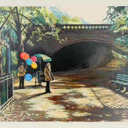 Harry McCormick, Balloons in Central Park, Serigraph - Artist:  Harry McCormick, American (1942 - )