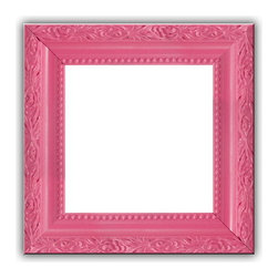 Bubble Gum Pink Solid Wood Photo, Picture Frame, Bubble Gum Pink, 8x8 - Solid wood photo frame designed for hanging.