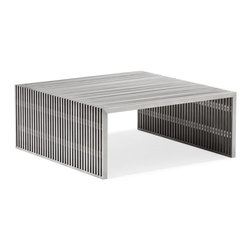 Zuo Modern - Zuo Modern Novel Modern Square Coffee Table X-480001 - Like support beams in a high rise, the Novel series is strong and sturdy. Made from 100% stainless steel.