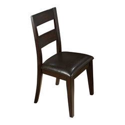 Jofran - Jofran Conventional Height 1 Rung LadderBack Vinyl Side Chair - Jofran - Dining Chairs - 972762KD - The Conventional Height Side Chair makes your dining room uniquely contemporary. This piece will add a level of sophistication and elegance to your dining room.