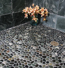 bathroom tile by Island Stone