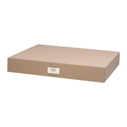 """Resource International Inc. - Margo Storage Collection Large Art File Storage Box - Overview Our exclusive Margo large art file storage organizes and protects your valuable photo memories beautifully. Exposures has been designing museum-quality photo storage for 20 years. Perfect for safekeeping important documents, photos, magazines and other precious items.  Features Bookcloth covering Standard nickel label holder Art file storage is available in additional sizes   Fabric dye lots vary between shipments from our supplier, which may result in slightly varying colors when pieces are ordered separately.  When filling a piece of our storage furniture with boxes of the same color, we recommend you order all the pieces at one time to ensure color consistency. Specifications Large Art File measures 3""""H x 20""""W x 16""""D."""